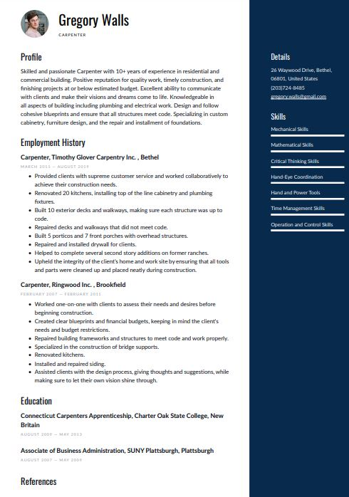 Modern Resume Templates Word Pdf Download For Free Resume Io