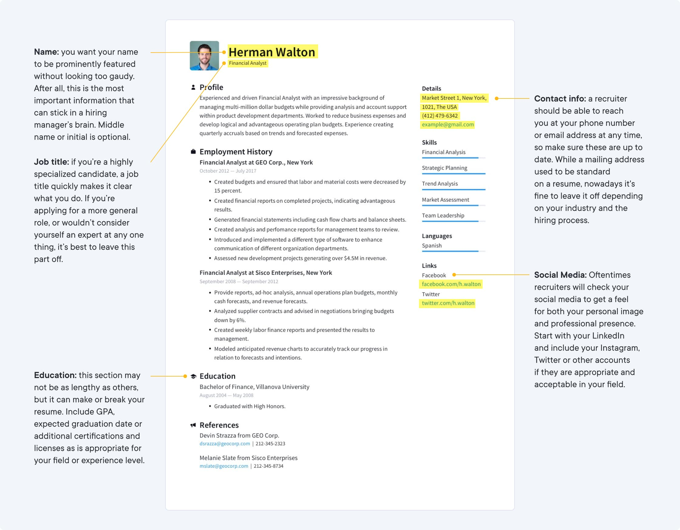 Resume Templates Free Create A Perfect Resume Resume Io