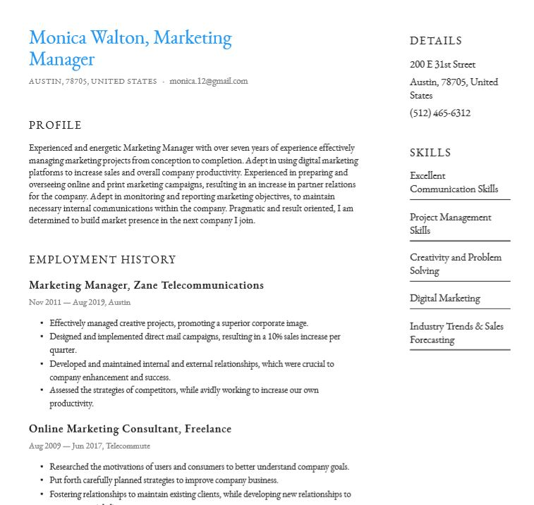 Basic Or Simple Resume Templates Word Pdf Download For Free Resume Io